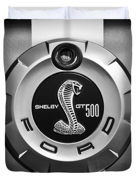 Ford Shelby Gt 500 Cobra Emblem Duvet Cover by Jill Reger