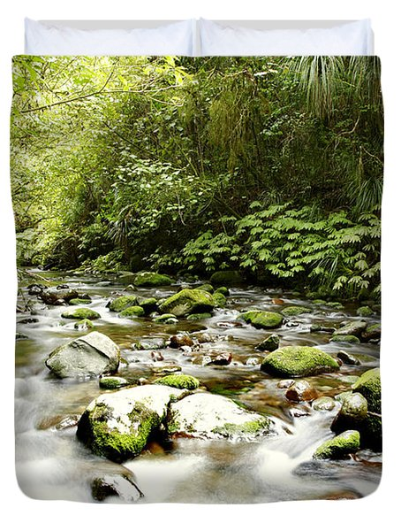 Forest Stream Duvet Cover by Les Cunliffe