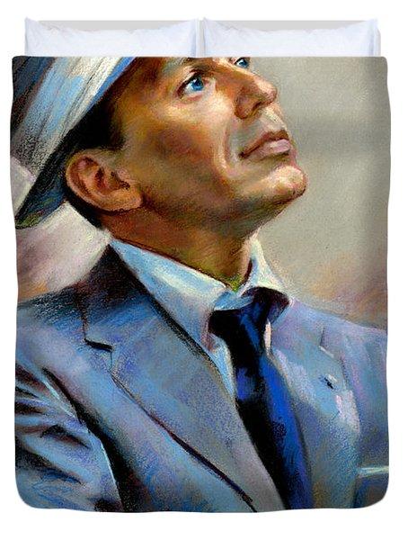 Frank Sinatra  Duvet Cover by Ylli Haruni