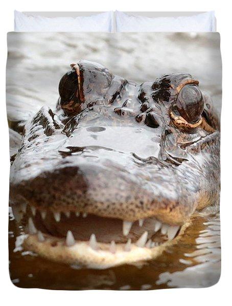 Gator Eyes Duvet Cover by Carol Groenen