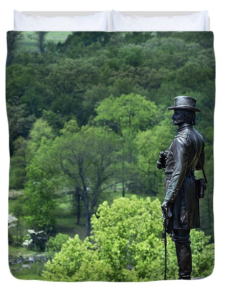 General Warren at Little Round Top Duvet Cover by John Greim
