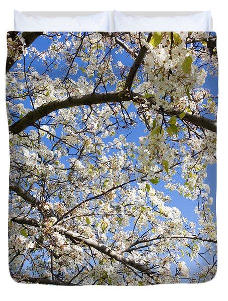 Glimpse Of Spring Duvet Cover by Heidi Smith