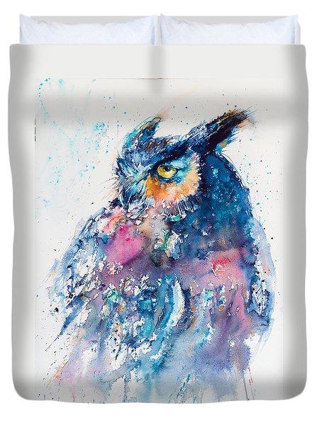 Great Horned Owl Duvet Cover by Kovacs Anna Brigitta