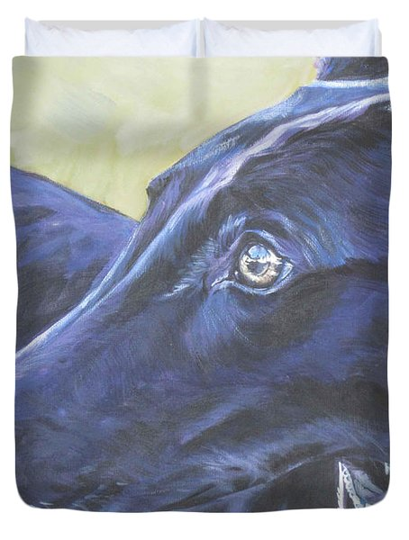 Greyhound Duvet Cover by Lee Ann Shepard