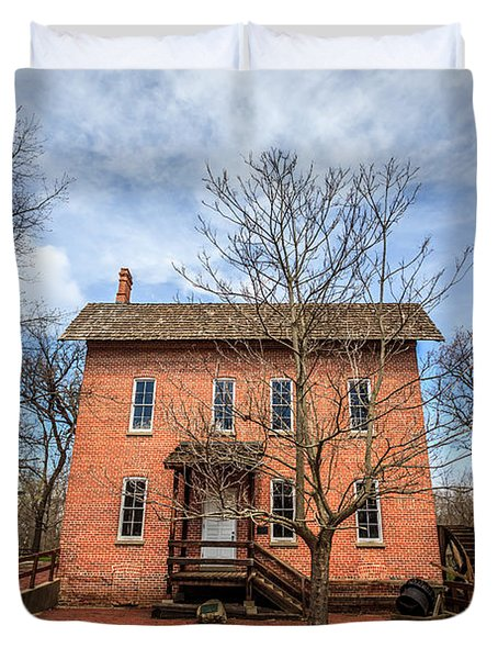 Grist Mill in Deep River County Park Duvet Cover by Paul Velgos