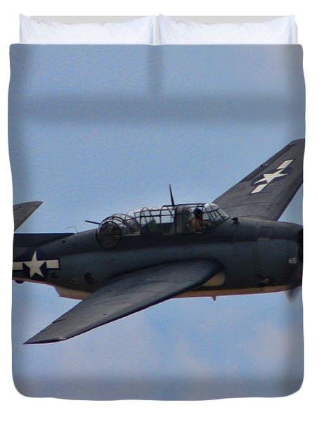 Grumman TBM-3E Avenger Duvet Cover by Tommy Anderson