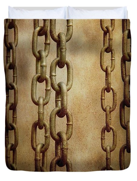 Hanged Chains Duvet Cover by Carlos Caetano