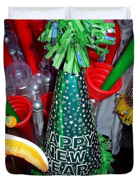 Happy New Year Duvet Cover by Caroline Stella