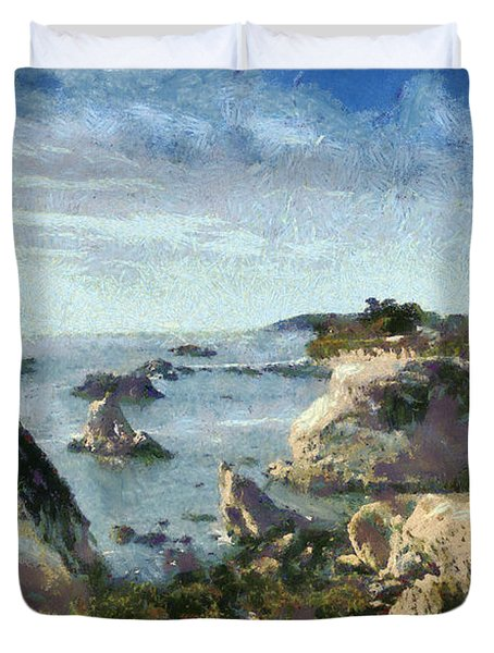 Hazy Lazy Day Pismo Beach California Duvet Cover by Barbara Snyder