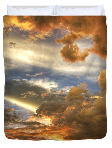 Heavenly Skies  Duvet Cover by Saija  Lehtonen