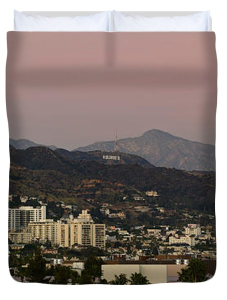 High Angle View Of A City, Beverly Duvet Cover by Panoramic Images