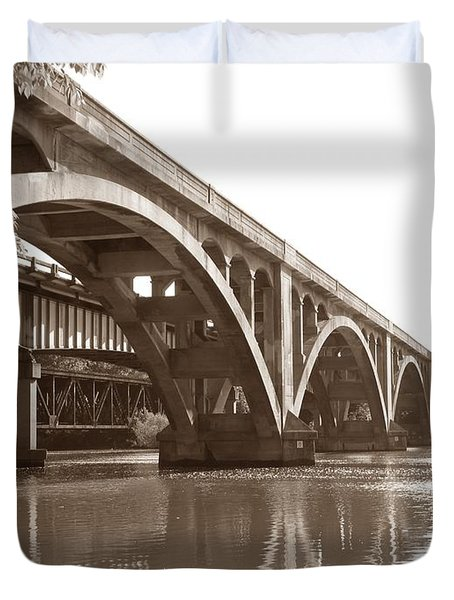 Historic Wil-cox Bridge Duvet Cover by Matt Taylor