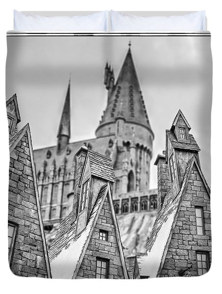 Postcard From Hogsmeade Duvet Cover by Edward Fielding