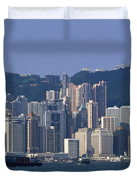 Hong Kong China Duvet Cover by Panoramic Images