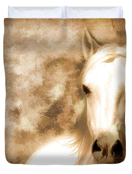 Horse Whisper Duvet Cover by Athena Mckinzie