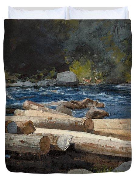Hudson River Duvet Cover by Winslow Homer