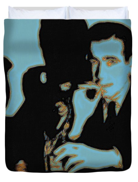 Humphrey Bogart And The Maltese Falcon 20130323m88 Square Duvet Cover by Wingsdomain Art and Photography