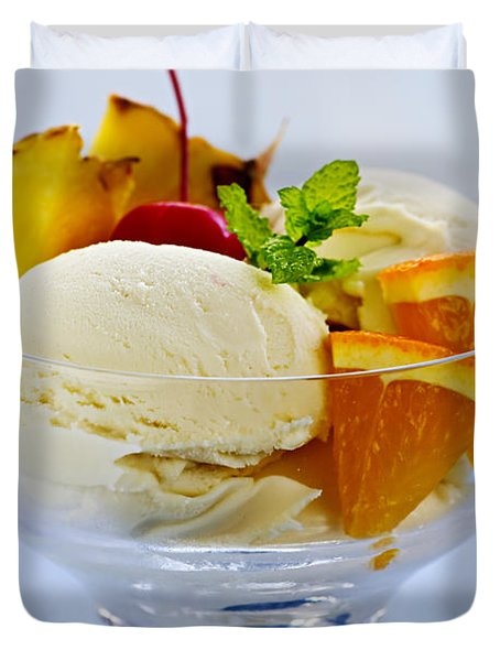 Ice cream Duvet Cover by Elena Elisseeva