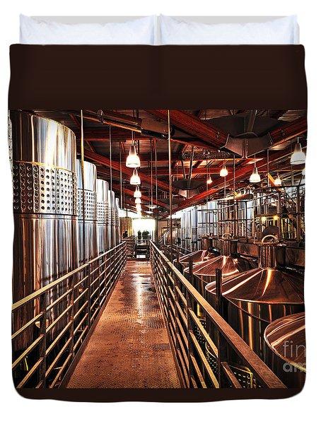 Inside Winery Duvet Cover by Elena Elisseeva