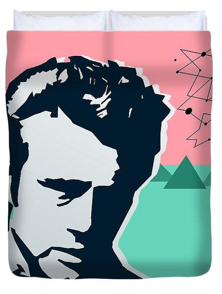 James Dean Duvet Cover by Mark Ashkenazi