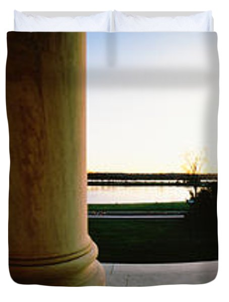Jefferson Memorial Washington Dc Usa Duvet Cover by Panoramic Images