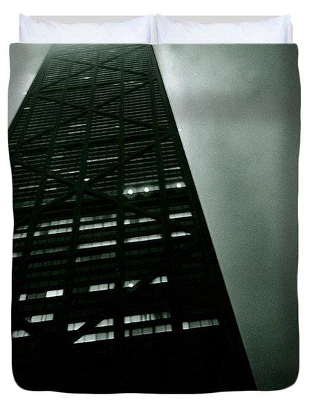 John Hancock Building - Chicago Illinois Duvet Cover by Michelle Calkins