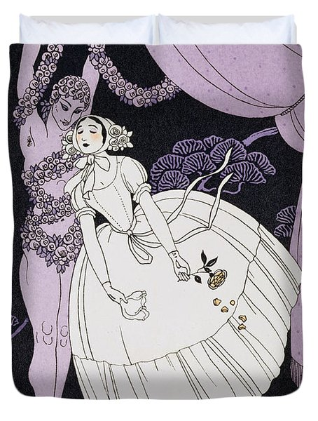 Karsavina Duvet Cover by Georges Barbier