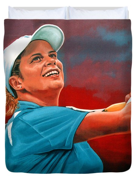 Kim Clijsters Duvet Cover by Paul Meijering
