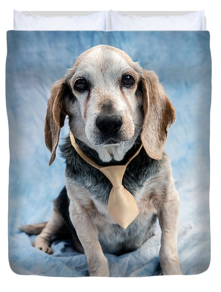 Kippy Beagle Senior And Best Dog Ever Duvet Cover by Iris Richardson