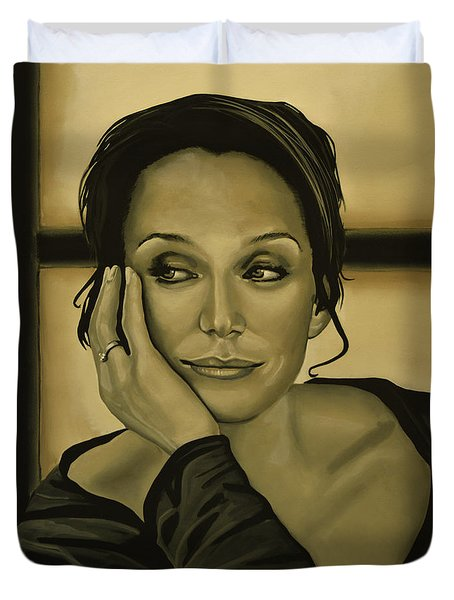 Kristin Scott Thomas Duvet Cover by Paul  Meijering