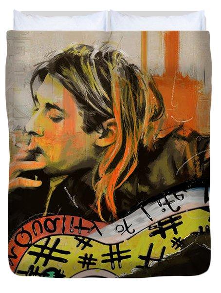 Kurt Cobain Duvet Cover by Corporate Art Task Force