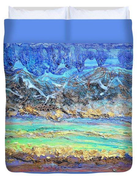Landscape Layers Duvet Cover by Regina Valluzzi