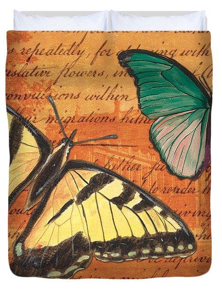 Le Papillon 3 Duvet Cover by Debbie DeWitt