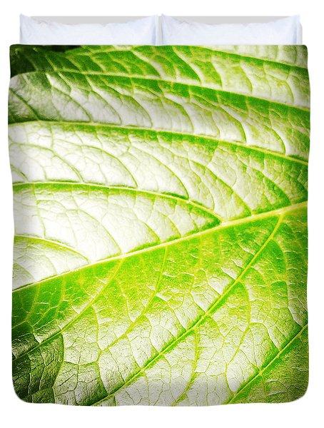 Leaf Duvet Cover by Les Cunliffe