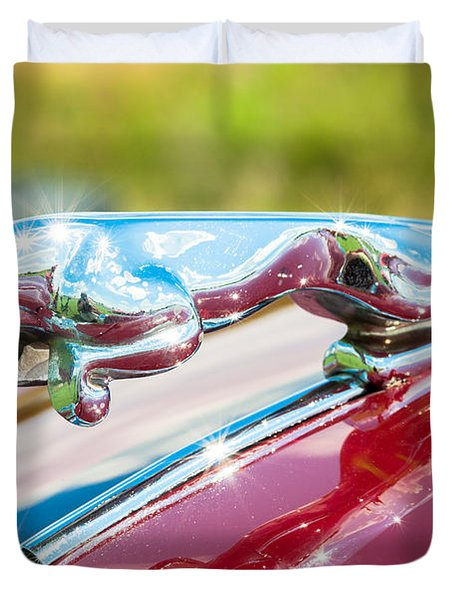 Leaping Jaguar Duvet Cover by Sebastian Musial
