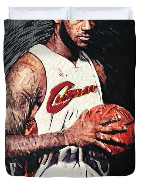 LeBron james Duvet Cover by Taylan Soyturk