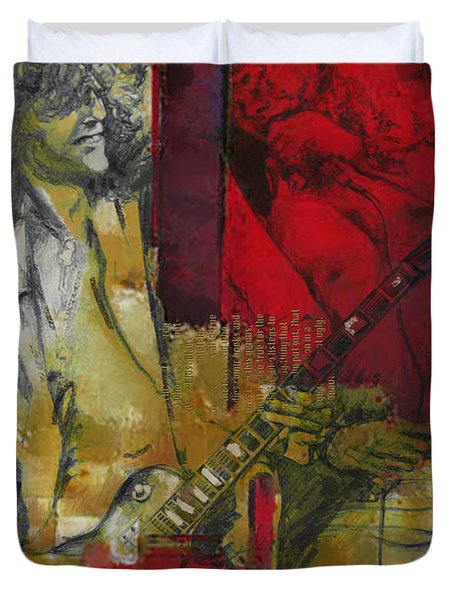 Led Zeppelin  Duvet Cover by Corporate Art Task Force