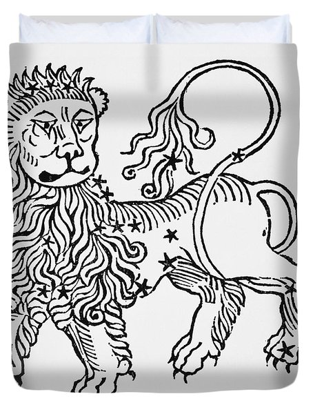 Leo An Illustration From The Poeticon Duvet Cover by Italian School