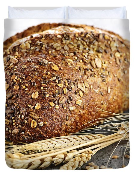 Loaf Of Multigrain Bread Duvet Cover by Elena Elisseeva