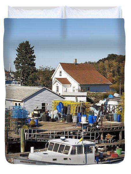 Lobster Boat Duvet Cover by John Greim