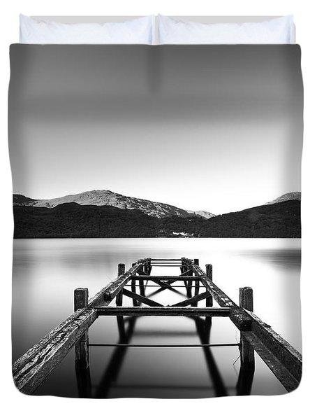 Loch Lomond Jetty Duvet Cover by Grant Glendinning