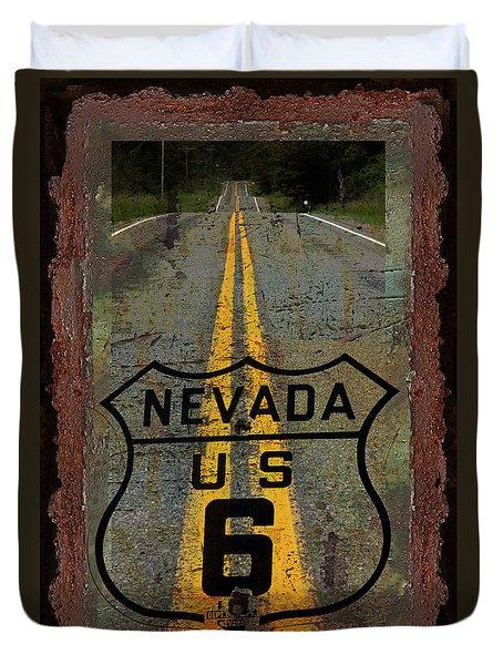 Lost Highway Duvet Cover by John Stephens