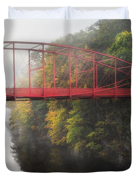 Lovers Leap Bridge Duvet Cover by Bill  Wakeley