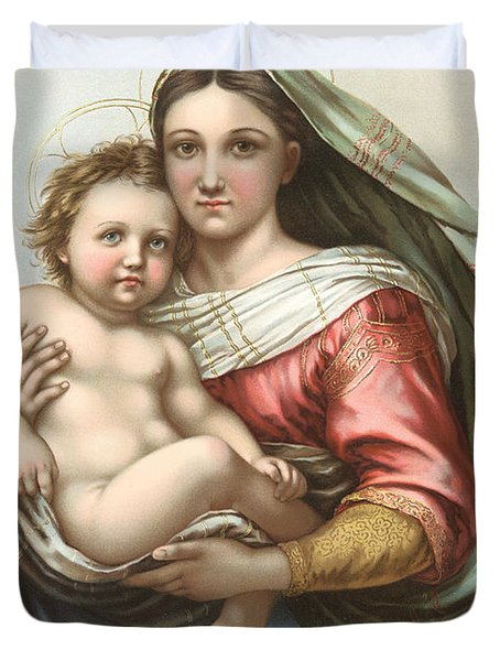Madonna And Child Duvet Cover by Gary Grayson