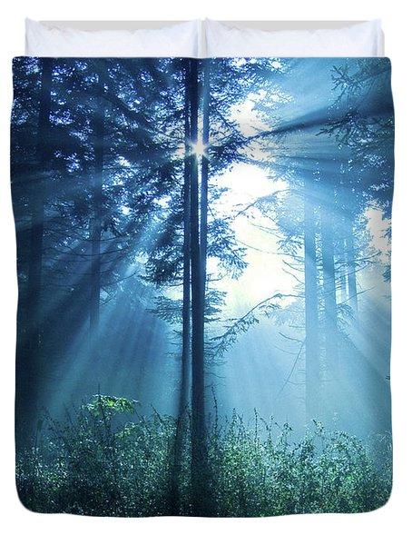 Magical Light Duvet Cover by Daniel Csoka