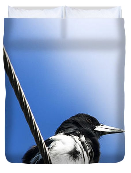 Magpie Up High Duvet Cover by Jorgo Photography - Wall Art Gallery