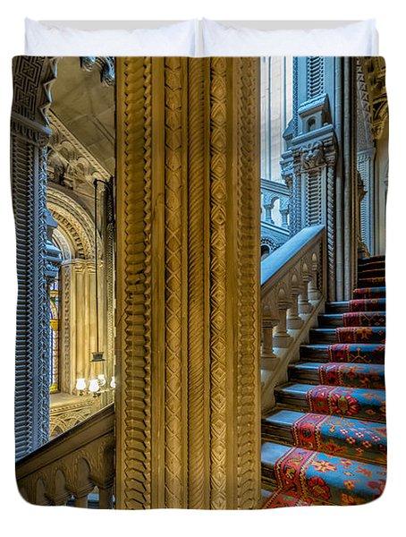 Mansion Stairway Duvet Cover by Adrian Evans