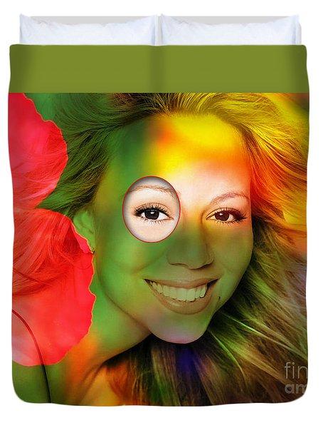 Mariah Carey Duvet Cover by Marvin Blaine