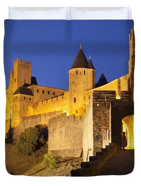 Medieval Carcassonne Duvet Cover by Brian Jannsen