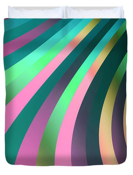 Metallic Swirls 2 Duvet Cover by Hakon Soreide